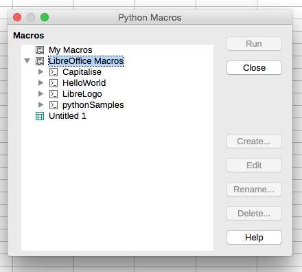 LibreOffice Python Macro Directory