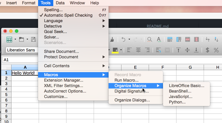 LibreOffice Python Macros
