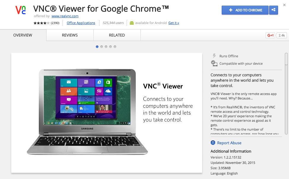 VNC for Chrome